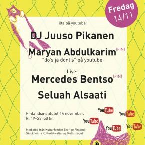 """FOKUS PÅ ANTIRASISM @ """"ILTA"""" PÅ FINLANDSINSTITUTET 14.11"""